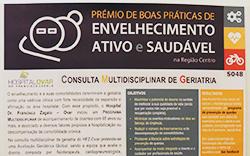 imagem do post do Poster sobre consulta de geriatria do hospital representado em congresso
